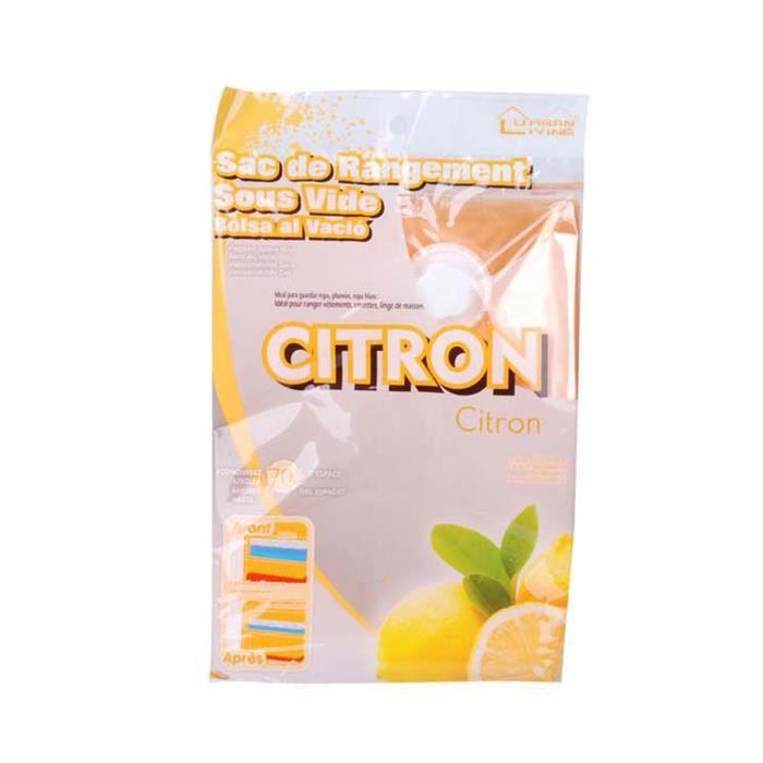 PANIER A LINGE Sac de compression - 60 x 50 cm - Senteur citron