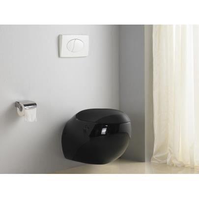 Wc suspendu huro noir achat vente wc toilettes wc - Pack wc suspendu noir ...