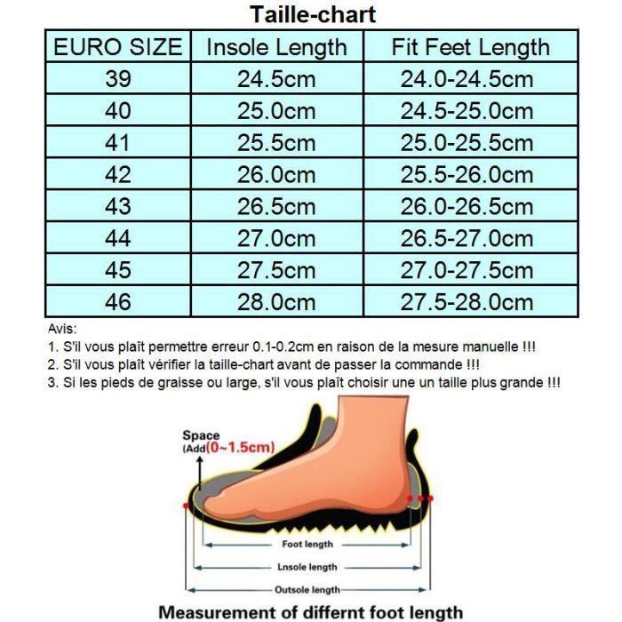 Chaussures de running Masculines Respirante Sport Baskets - Noir