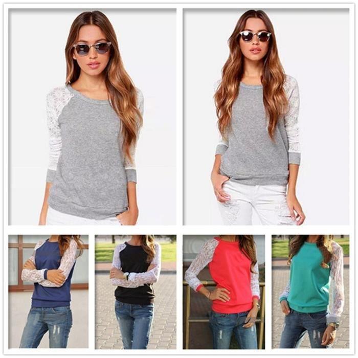 Femme De Tee Pum xxl Nouvelle Collection Femmes S Taille Luxe Dentelle Chemisier Chemise T Shirt Marque shirt vFqwYFzpx