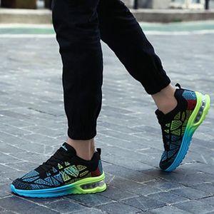 Femmes Mode Sneakers Sports Courir Randonnée Épaisseur Plate-Forme Plate Chaussures Noir ASD679 f1QqjW2st