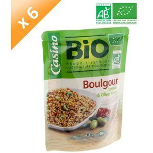 PLAT LÉGUMES - FÉCULENT Boulgour Tomates et Olives Vertes Bio - 250 g x6
