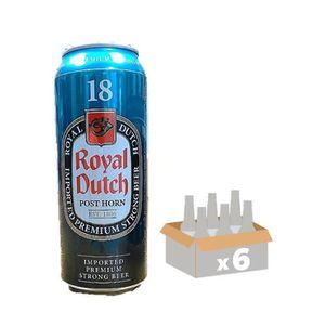 BIÈRE ROYAL DUTCH POST HORN Lot de 6 Canettes de Bière a