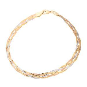 BRACELET - GOURMETTE LES BIJOUX D'EMMA Bracelet Or Tricolore 375° Femme