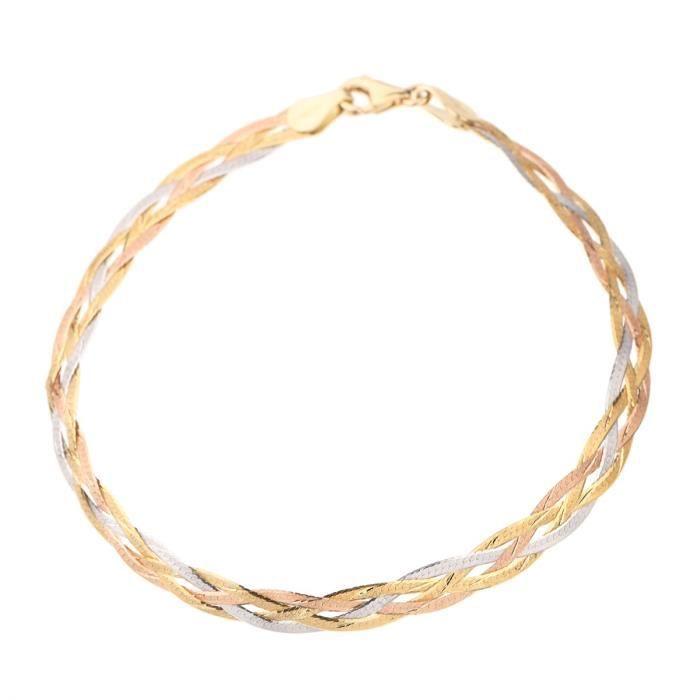LES BIJOUX D\u0027EMMA Bracelet Or Tricolore 375° Femme