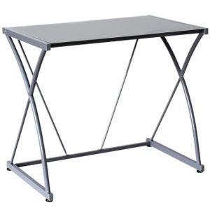 bureau plateau verre achat vente pas cher. Black Bedroom Furniture Sets. Home Design Ideas