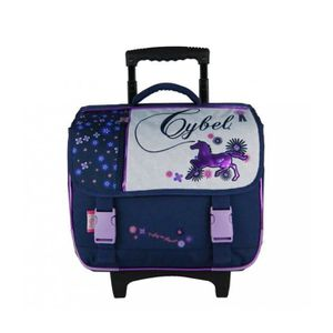 CARTABLE CARTABLE A ROULETTES 38CM MARINE-CYBEL  CHEVAL 38x