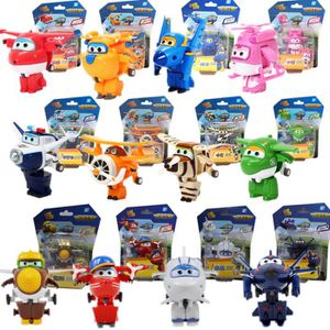 FIGURINE - PERSONNAGE 12 styles Super Wings Mini Avion Robot Superwings