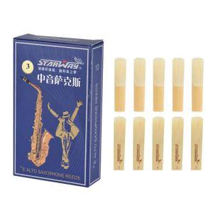 ANCHE - ROSEAU 10pcs / boîte Anches de saxophone alto de force 3.