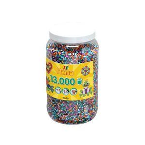 CRÉATION DE BIJOUX HAMA Pot de 13000 moyennes perles bicolores