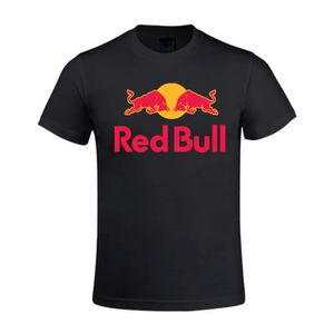 8e75cce5f6 T-SHIRT Red Bull logo Tee Shirt Homme Fashion 100% Cotton