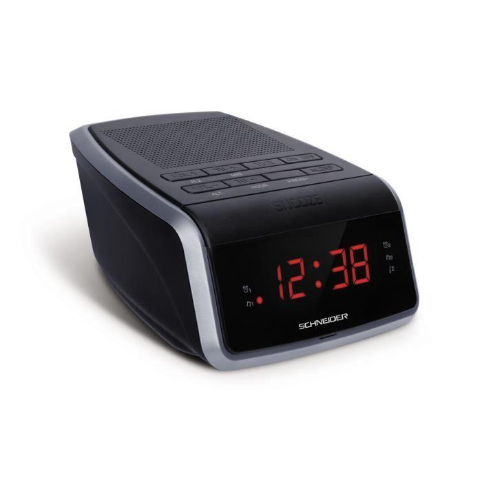 SCHNEIDER SC050ACL Radio Réveil Double Alarme Clocky