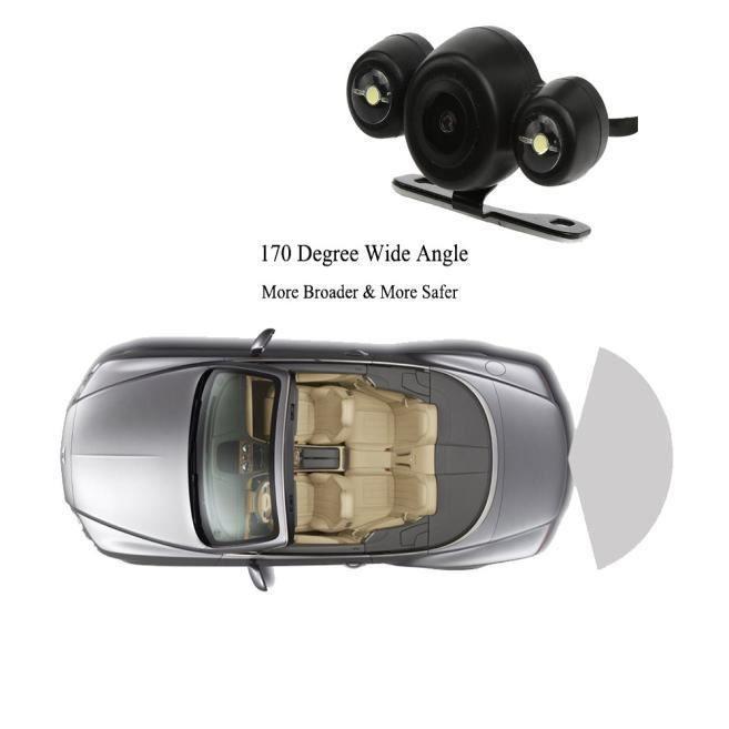 Voiture 170º HD Vue arrière Refroidissement sauvegarde stationnement Caméra vision nocturne CMOS imperméable à l'eau