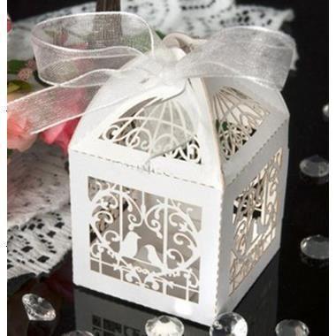 12 bo te drag es bonbons coeur oiseaux cage blanc pour mariage bapt me achat vente bo te. Black Bedroom Furniture Sets. Home Design Ideas