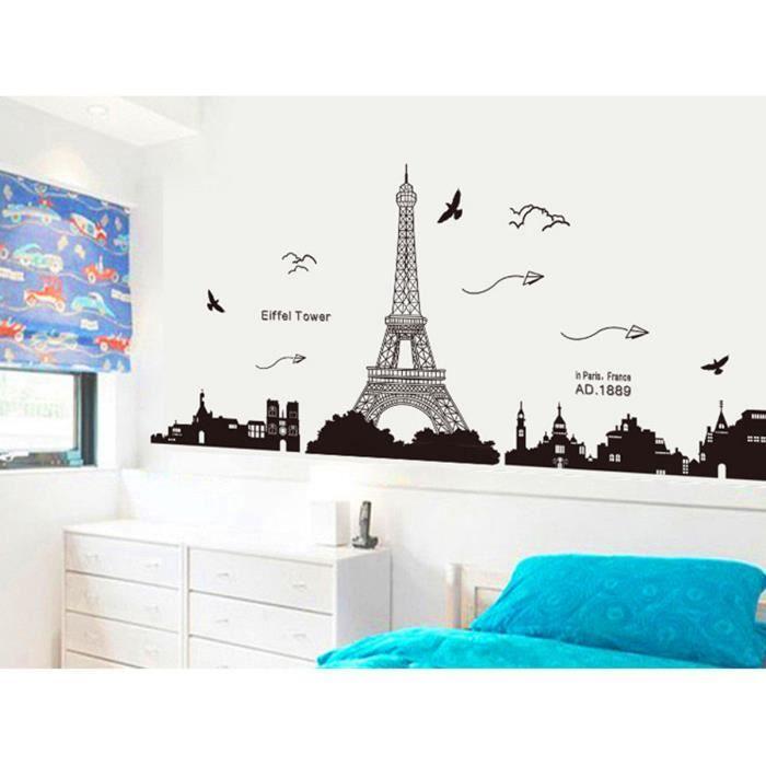 deco motif paris achat vente deco motif paris pas cher. Black Bedroom Furniture Sets. Home Design Ideas