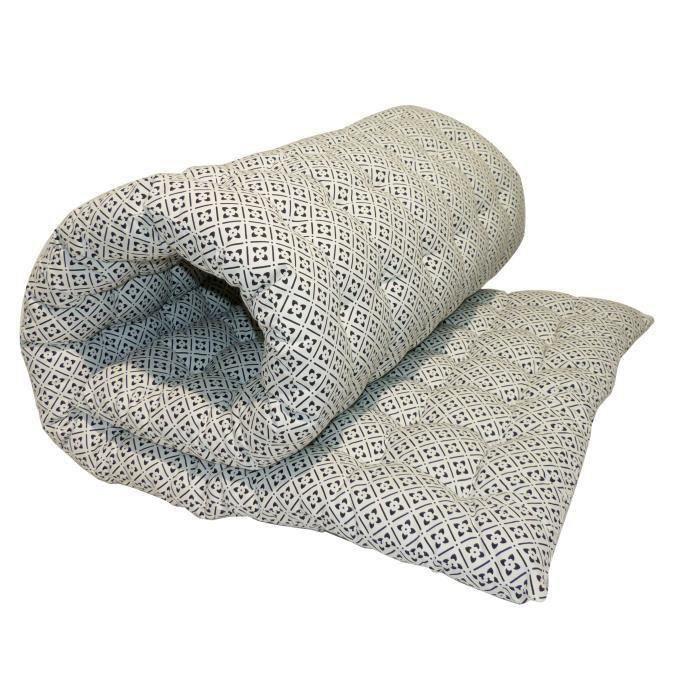 matelas de sol coton imprim clover 80x190 cm noir et blanc achat vente coussin matelas de. Black Bedroom Furniture Sets. Home Design Ideas