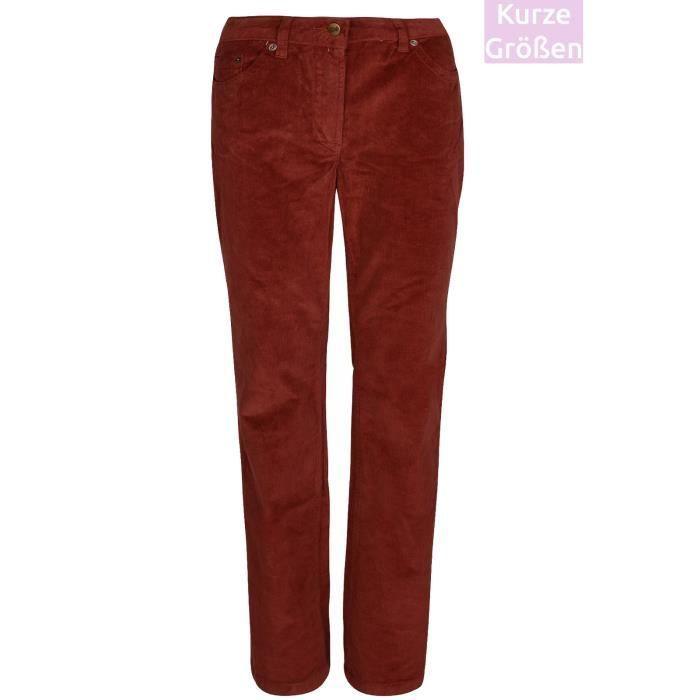 e92a1604faec2 Pantalon en velours côtelé pantalon stretch femme à manches courtes ...