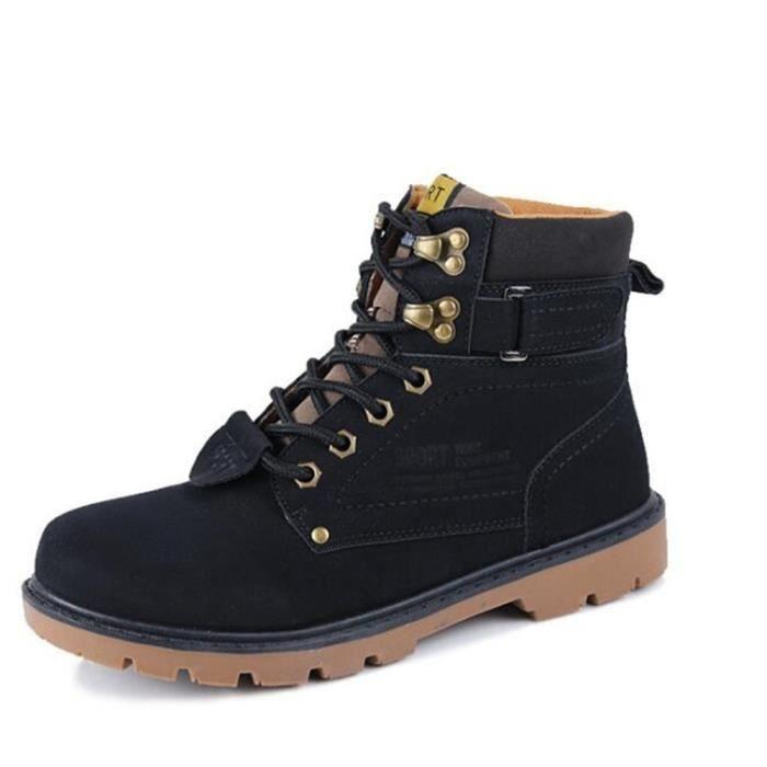 Homme Chaussures Marque de luxe 2018 Hiver Confortable Mode Haut qualité Martin Bottine Durable Bottines Hommes Grande Taille
