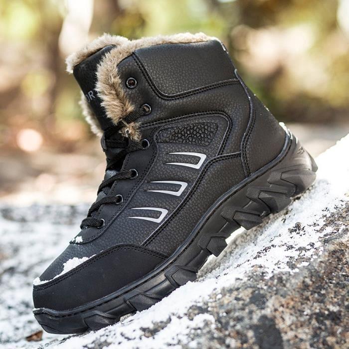 Hommes Unique Design Bottes de Combat Bottes militaires chaud Guerrier Bottes hiver plus Chaussures en cachemire (noir, marron,