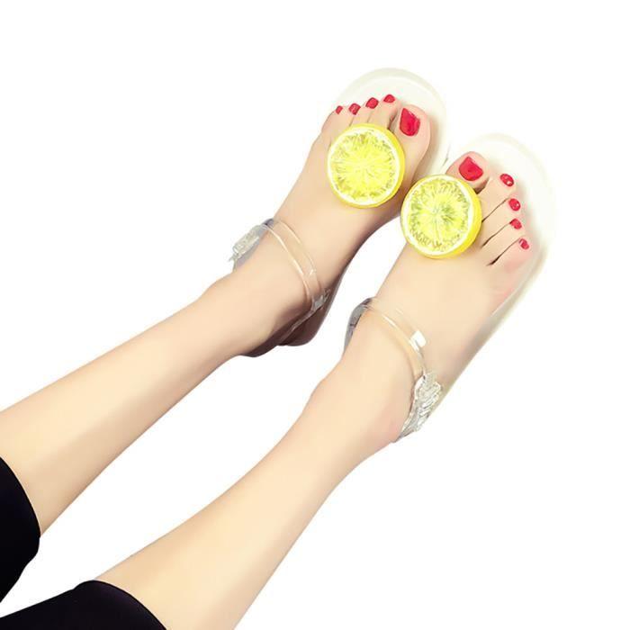 Tongs Femmes Sandales Sandales Fruit Flip Plate Chaussures blanc Flop Plage Filles ff5TwqFr