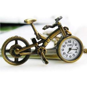 MONTRE Vélo Forme Vintage Montre De Poche Quartz Collier