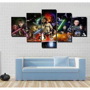 TABLEAU - TOILE Toiles imprimées 5 pièces Star Wars Movie pictures