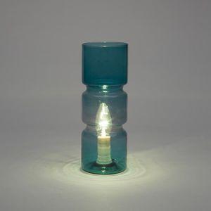 LAMPE A POSER Lampe de chevet design forme cylindrique en verre