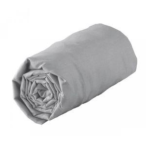 DRAP HOUSSE Drap housse jersey extensible gris 140x190cm