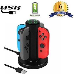 BATTERIE DE CONSOLE A Joycon 4 en 1 Chargeur Nintendo Switch Manettes