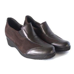 et IR25576 dérapant talon Soft cuir anti chaussures à caoutchouc et 5cm semelles marron Cinzia en de daim wqaZAAR
