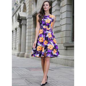 392faa0896d Channy® Robe Courte d été Sans Manches Femme Fille pour Fleurie ...