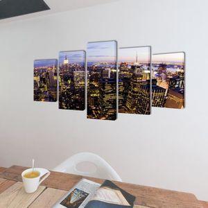 TABLEAU - TOILE Ce set de 5 toiles imprimées sera idéal pour décor