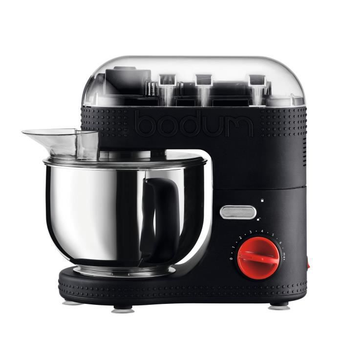 BODUM 11381-01EURO-3 Bistro Robot de cuisine électrique - Bol inox 4,7 l - 700 W - Noir
