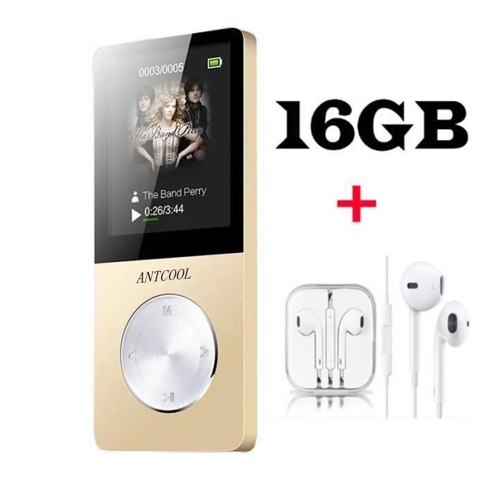 LECTEUR MP3 ANTCOOL(R) Lecteur MP3/MP4 16GO Baladeur Multi-fon