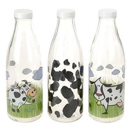 lot de 3 bouteille de lait verre 1 litre ref 3459 achat vente bouteille isotherme cdiscount. Black Bedroom Furniture Sets. Home Design Ideas