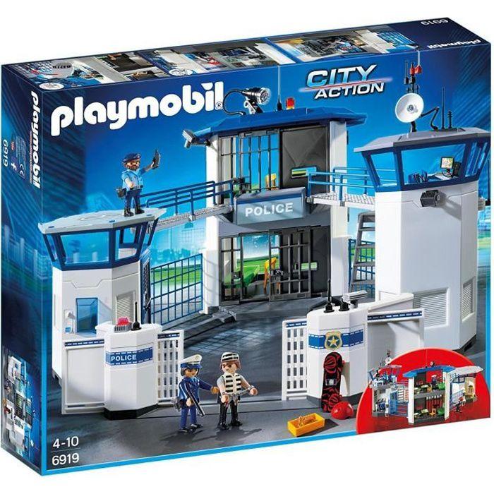 UNIVERS MINIATURE PLAYMOBIL 6919 - City Action - Commissariat de Pol