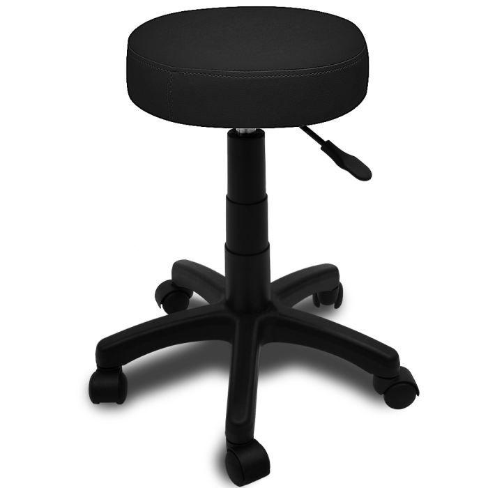 tabouret roulettes noir r gblable 45 56 cm achat vente tabouret cdiscount. Black Bedroom Furniture Sets. Home Design Ideas