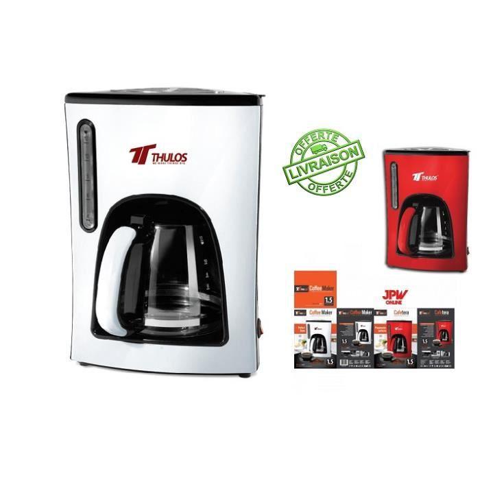 JPWonline- Cafetière électrique filtre permanent- 1.5L - Achat ...