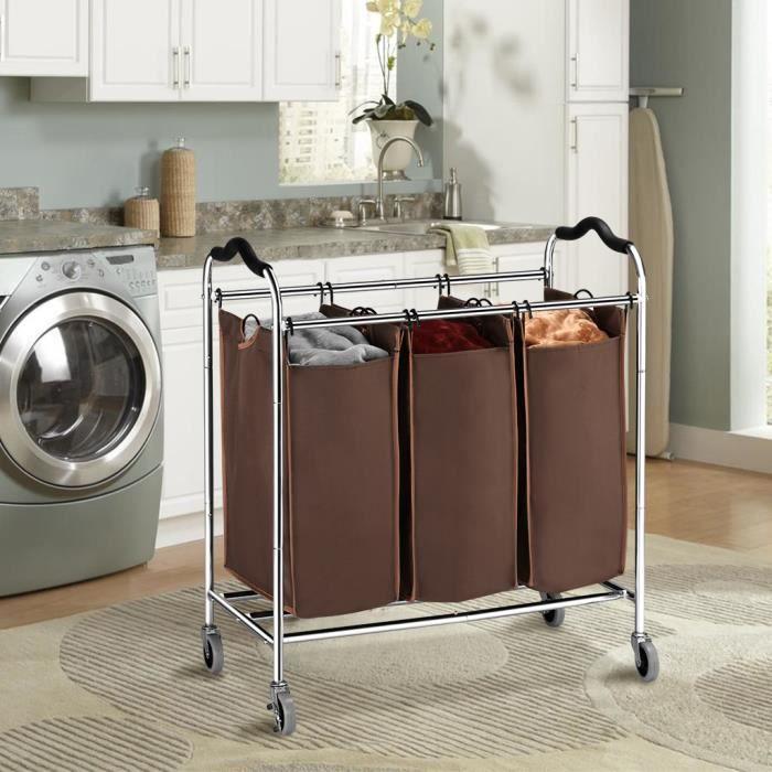 chariot panier a linge achat vente chariot panier a linge pas cher soldes d s le 10. Black Bedroom Furniture Sets. Home Design Ideas