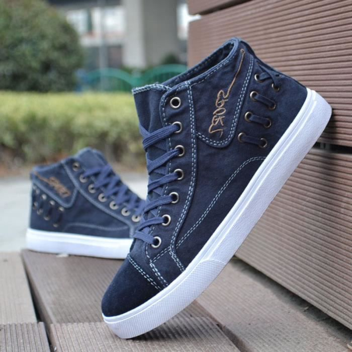 SHELOVEIT® Toile Chaussures Hommes Casual Montantes Denim