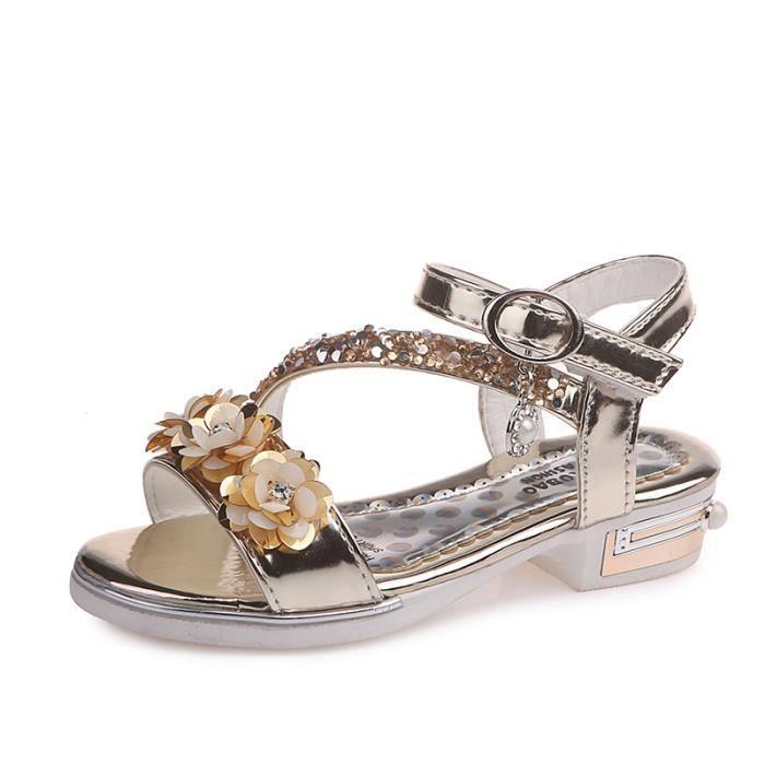 acheter populaire ae27f 68a5e Enfant Sandales Fille Mode Talon haut Chaussures pour enfants