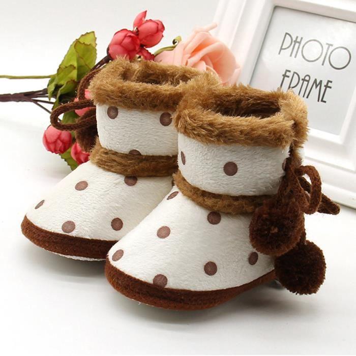 Chaussures Bb Bottillons petit marron De Pour Neige Bottes Gar Rchauffement Filles Doux ons Nouveau Tout ns IqwFqOr