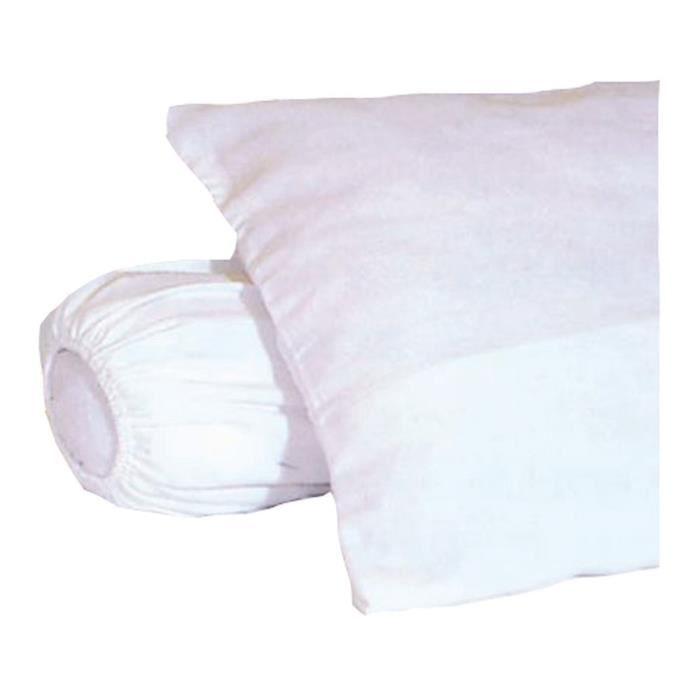 sous taie d oreiller Sous taie d'oreiller molleton 100% coton gratté 50x70 cm blanc  sous taie d oreiller