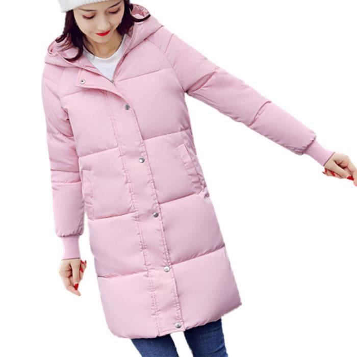 Le Vers Long Occasionnels Manteau Plus Outwear Mince Épais Femmes Hiver Cooldiscovere Bas Rose Lammy zXYng66F