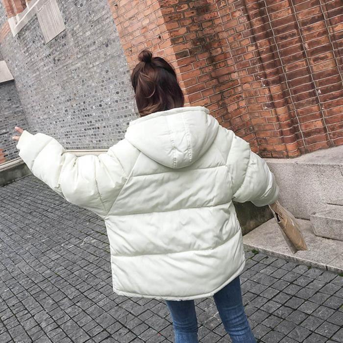 Manteau Coton Chaud À Survêtement Les Hiver Capuchon Blanc Femmes Rembourré Veste En wqBnHIxfZ6