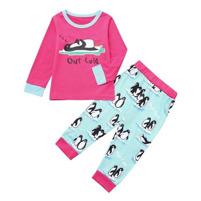 Famille Enfants Garçon Lettre Noël Pyjama De Père Rouge Du Nuit Ensemble Vêtements Fille q4xwTRqzr