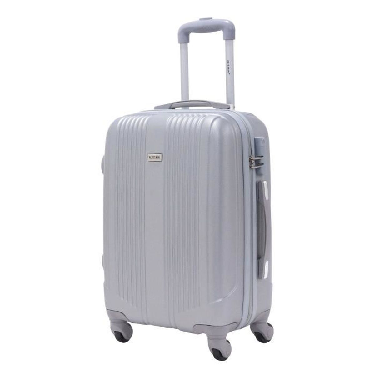 valise cabine taille 55cm alistair airo abs gris silver achat vente valise bagage. Black Bedroom Furniture Sets. Home Design Ideas