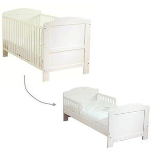 """Modulable, il suffit d'ôter les barreaux pour le transformer en son premier """"lit de grand"""" - 144,7 x 76,2 x 91,2 cm - Mixte - D's la naissance - Livré ? l'unité"""