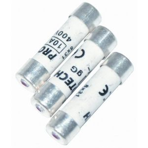 VOLTMAN Pack 3 Fusibles avec voyant de fusion 8,5 x 31,5 mm - 10 A - 230 V
