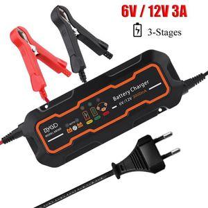 CHARGEUR DE BATTERIE 6V/12V 3A Chargeur de Batterie Intelligent Automat